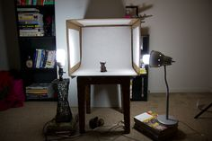 how to make a light box for cheap