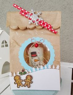 A+MERRY+GIFT! - Scrapbook.com #packaging #lawnfawn #sizzix #christmas # paperbagpackeging #paperbag