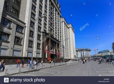 Download this stock image: The building of the State Duma in the city center, Moscow, Russia - G542B3 from Alamy's library of millions of high resolution stock photos, illustrations and vectors.