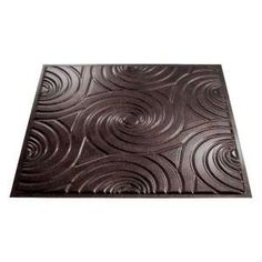 Fasade Typhoon - 2 ft. x 2 ft. Smoked Pewter Glue-up Ceiling Tile-G73-27 at The Home Depot