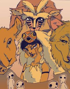 Princess mononoke -  Flux illustration