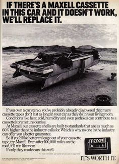 Serious ad for serious Cassette Tape