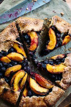 Blueberry + Peach Galette with Almond Cream