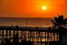 Oceanside Pier at Sunset - August 29, 2012