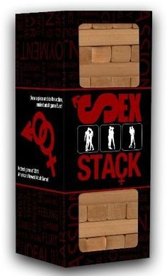 Sex Stack by 3DP Fusion. $25.00. Decide who goes first, and begin playing. On each turn each player will remove one Sexual Piece from the tower, trying not to collapse the tower. Each sexual piece has a number printed on it. Find the corresponding number on the Teaser Card or Hardcore Card that you have chose for this game. Perform the sexual action listed on the card. When you have completed your sexual task, place the piece you just drew on top of the tower so that is al...