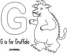 fun childrens learning activities including printable templates for preschool kindergarten and elementary school kids - Gruffalo Colouring Pages To Print