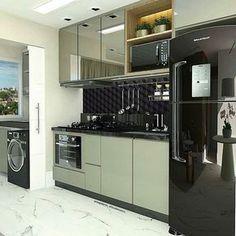 Que cozinha mais moderna e linda! Projeto Dileia Bezerra #decorbrasil #decor #decore #brasil #decoracao #decoraçãodeinteriores #design #designdeinteriores #arquitetura #arq #inspiracao #inspiracoes #ideias #cozinhaplanejada #cozinha #cozinhapequena