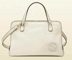 Cartelle bianche Gucci borse collezione primavera estate 2014 logo