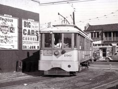 9 Line turning into private ROW from Hoover St 1949