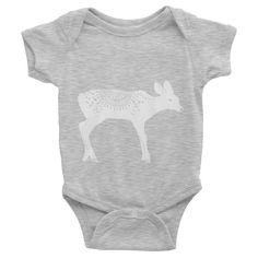 Fly Tots Little Deer Infant short sleeve one-piece