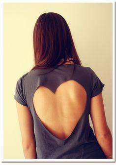 heart cut out shirt
