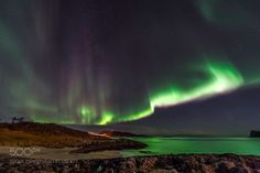 Northern Lights Reflect on Fjord by dburdeny. Please Like http://fb.me/go4photos and Follow @go4fotos Thank You. :-)
