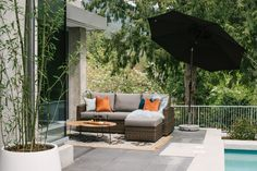 Create a backyard oasis with stylish outdoor furniture. Find this and more decor inspo at CF Interiors.