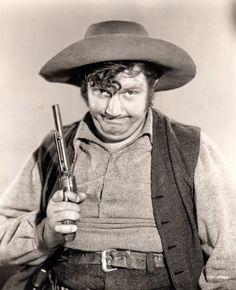 TRAIL OF THE VIGILANTES (1940) - Franchot Tone - Warren William - Andy Devine (pictured) - Universal Pictures - Publicity Still.