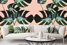 Next from our ENTOURAGE range is Rizzo - a playful take on monster leaves and oversizing and pink and green. We're pretty stoked with the… Entourage, Wall Design, Pink And Green, Range, Leaves, Wallpaper, Pretty, Instagram, Home Decor