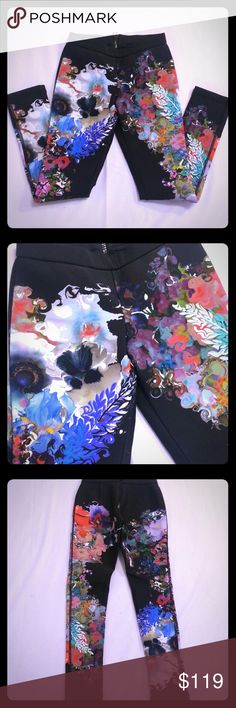 Cynthia Rowley Floral Scuba Bonded Leggings Pants Cynthia Rowley Floral Bonded Scuba Leggings Pants  Size 4  Amazing bright psychedelic floral print  Back zip closure  Excellent condition   If you have any questions please ask! Cynthia Rowley Pants Leggings