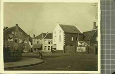 Beschrijving: Kruising Emmasingel, Hoogpoort, Kasteelswal, rechts fruithuis Wolter Locatie: Emmasingel; Parochie Sint Martinus (Centrum); Weert;   Datering: 1954 - 1954