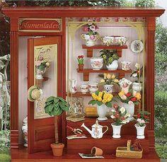Miniature Flower Shop Vignette