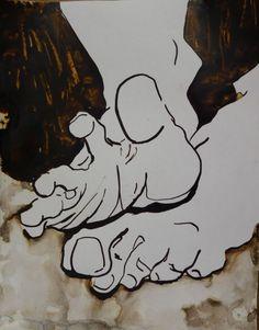 Water and ink on paper. By Elaheh Riyazat