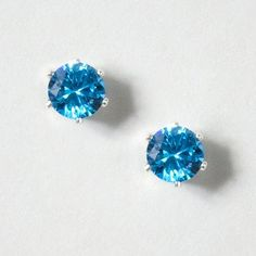 6mm CZ Stud Earrings | Claire's