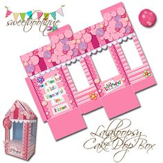 CUSTOM Lalaloopsy Style Cake Pop Box  Small Gift by SweetBootique
