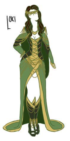 Loki dress design by unidentifiedspoon