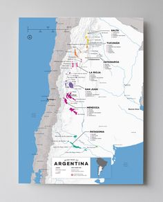 Wine Map of Argentina with Cities - http://shop.winefolly.com/collections/regional-wine-maps/products/argentina-wine-regions-map