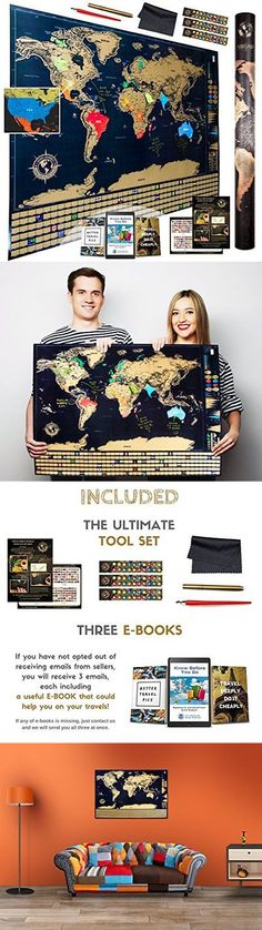 Other travel maps 164807 scratch off world map premium plastic other travel maps 164807 scratch off world map premium plastic will not tear 32 in x 2275 in us buy it now only 4456 on ebay pinterest gumiabroncs Image collections