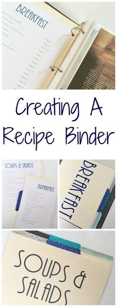 Recipes with a Recipe Binder Love this idea of creating a recipe binder to keep things organized.Love this idea of creating a recipe binder to keep things organized. Life Binder, Recipe Organization, Organization Hacks, Organizing Ideas, Organizing Labels, Recipe Binders, D House, Create A Recipe, Menu Planning