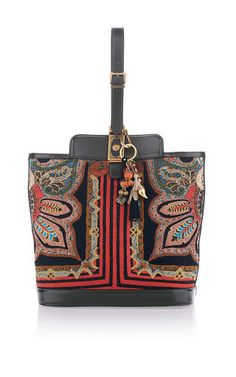 Embroidered Bucket Bag by ETRO for Preorder on Moda Operandi