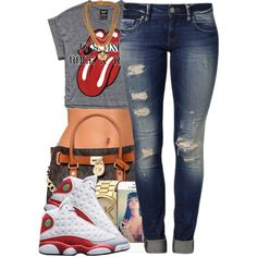 A fashion look from January 2015 featuring Forever 21 t-shirts, Mavi jeans and MICHAEL Michael Kors handbags. Browse and shop related looks.