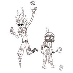 Rick and Morty - Junkrat and Roadhog