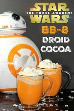 Even if you are not a Star Wars fan, you'll love this Star Wars BB-8 White Chocolate Hot Cocoa!