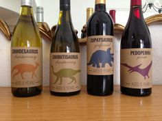 Dinosaur Birthday Party Wine Bottle Labels (for the adults at the party!)