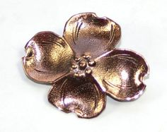 Copper Dogwood Flower Brooch Dogwood Brooch Dogwood Jewelry Dogwood Blossom Copper Brooch Copper Pin Copper Flower Brooch Flower Jewelry