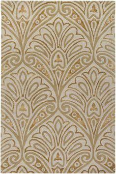 Surya Moderne MDR-1033 Ivory / Gold Area Rugs