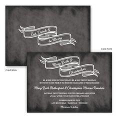 Delaney Wedding Invitations by TheAmericanWedding.com