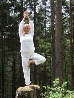 Tree pose in Germany, The Black Forest