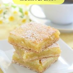 This Weight Watchers Lemon Bars Recipe is a MUST TRY You can have all of that yummy lemon dessert for only three points Well worth it Ww Desserts, Healthy Dessert Recipes, Ww Recipes, Gourmet Recipes, Healthy Sweets, Cooking Recipes, Lemon Recipes, Healthy Baking, Free Recipes