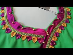 Lets learn how to stitch a very simple back neck design of a blouse. You all can try stitching the back blouse design by watching this video simultaneously. Simple Blouse Pattern, Simple Blouse Designs, Sari Blouse Designs, Stylish Blouse Design, Designer Blouse Patterns, Blouse Styles, Designer Dresses, Chudidhar Neck Designs, Blouse Neck Designs