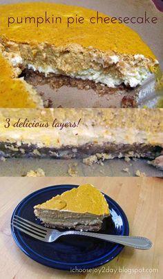 Baking Fall Treats: Pumpkin Pie Cheesecake {THM S}