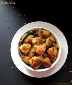 Jeera aloo ,potato roast-Potatoes stir fried and roasted in Indian spices