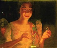 Fernando Amorsolo - Filipina Lighting a Kerosene Lamp Filipino Art, Filipino Culture, Philippine Art, Philippine Women, Philippines Culture, Filipina, Artists Like, Light Art, Female Art