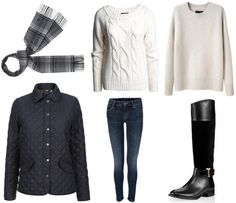 Quilted jacket pairing