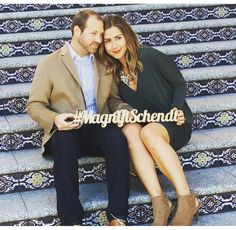 Wedding Hashtag Sign Personalized Photo Prop or by ZCreateDesign