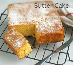 SRI LANKAN BUTTER CAKE - In this simple delicious treat, the butter holds the flavor of the cake and keeps the texture moist.