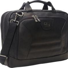 geanta din piele naturala / servieta de umar. producator: OGIO (OGIO este un respectat producator din USA pentru gentile de Golf). material...