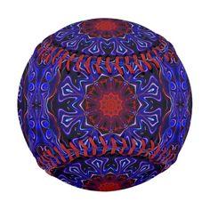 Blue liquid kaleidoscope.