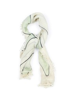 3bb1e1eceb0 Maiyet Hand Painted Scarf in White (ivory)