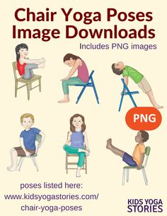 40 Chair Yoga Poses for Kids Images